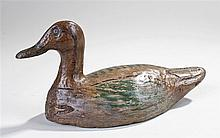 Decoy duck, the painted duck of typical form, 31cm long - Stock Ref:1178-16