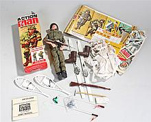 Palitoy Action Man Action Soldier, contained in original box. Also included