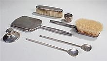 Collection of silver, various dates and makers, to include a mirror and bru