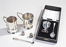 Collection of silver, to include a Victorian tankard, Birmingham 1897, anot