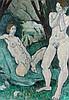 Fyffe Christie (1918-1979) Two Figures in a Green Landscape c.1978, oil on, Fyffe W. G. Christie, £5