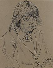 Fyffe Christie (1918-1979) Rose, a portrait of a child, signed Fyffe Christ