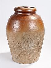 19th Century stoneware pottery shops jar, of large proportions, the wide ri