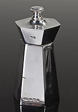 George VI silver pepper grinder, Birmingham 1937, maker IG & S, of angled f