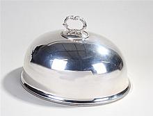 Silver plated meat dish cover, maker William Hutton & Sons, the acanthus le
