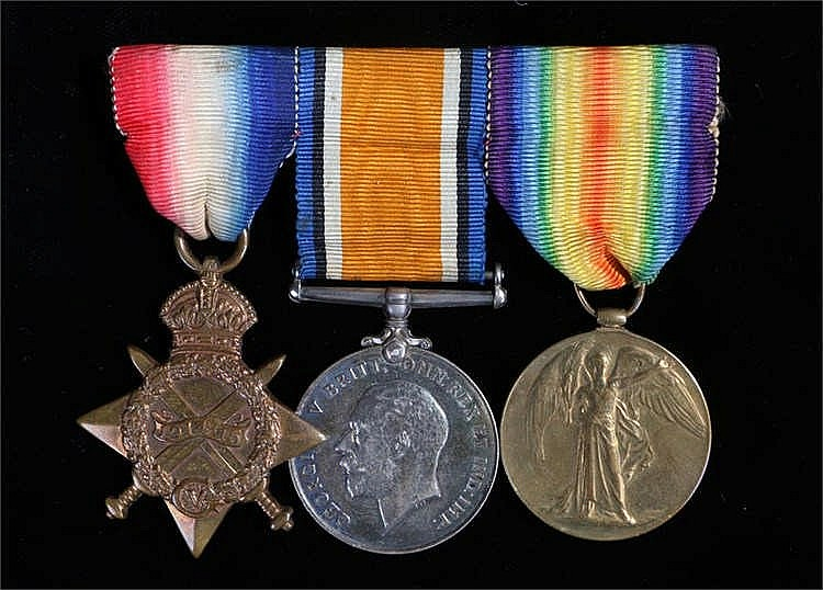 World War One trio to 1843 Pte. |S. Love. 9-London reg't - Stock Ref:5250-1