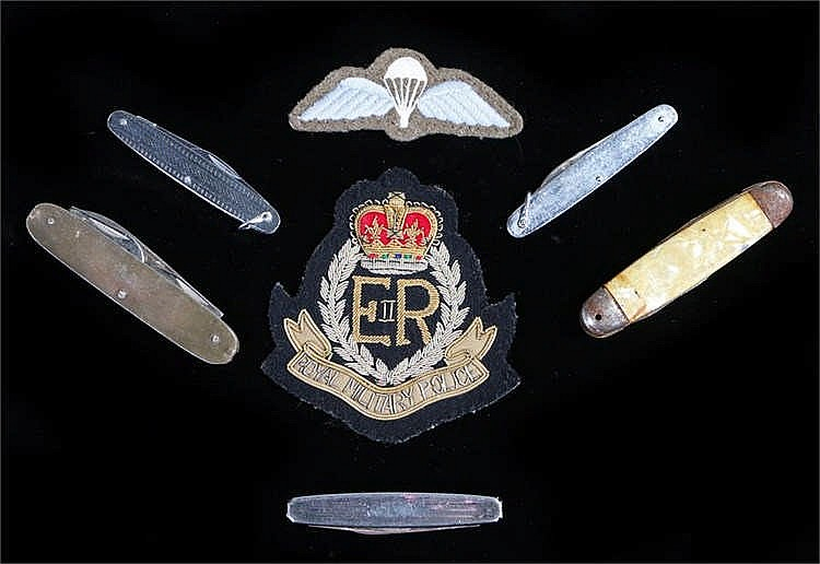 Royal Military Police blazer badge, together with a set of post World War T