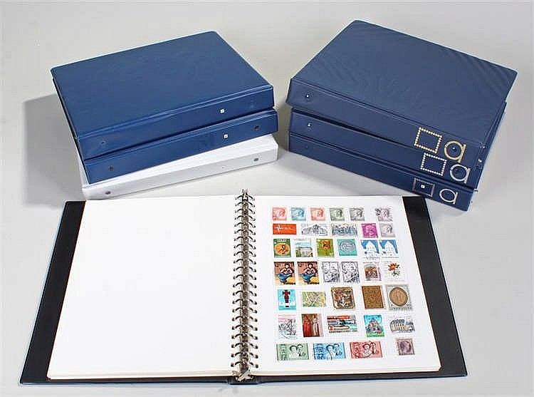 World stamp collection; seven well filled albums, huge quantity and variety
