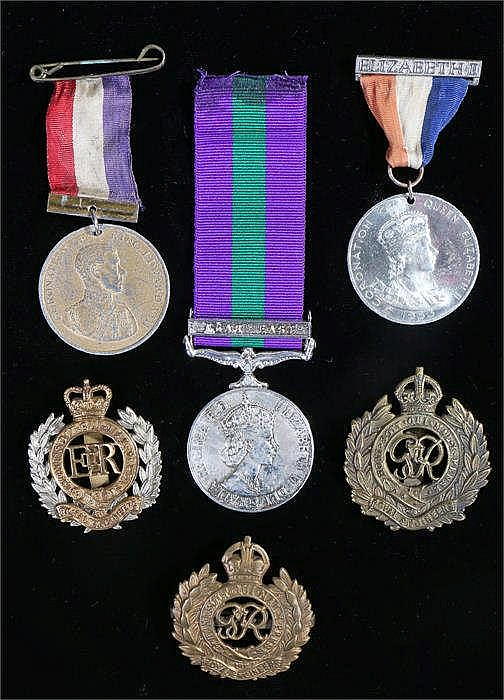 Military and medals, to include a re-strike Military General Service, three