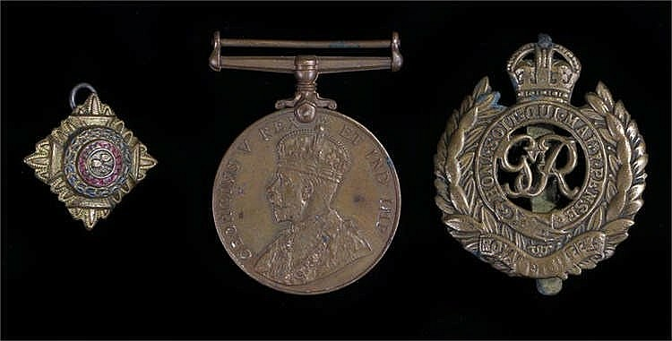 Special Constabulary Medal, (THOMAS DELMORE) together with a Royal Engineer