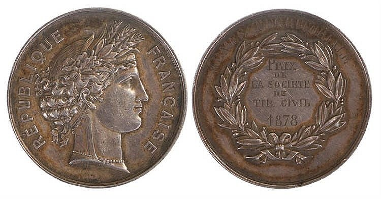 France medal, Armée Territoriale, Prix de la Societe de Tir Civil 1878 - St