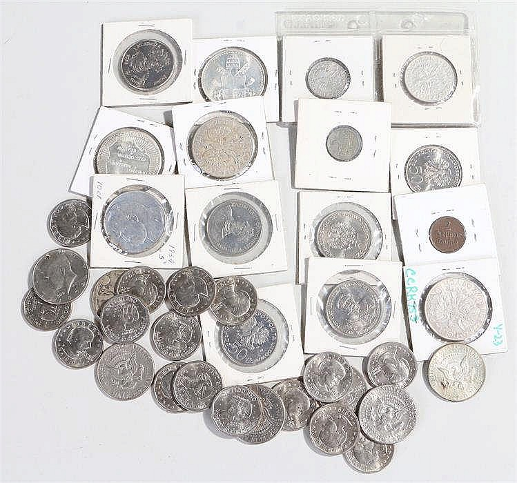 Coin collection, to include Polish Zloty, Pfenning, USA Half Dollars and Do