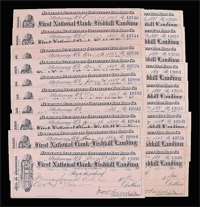 First National Bank Fishkill Landing, 1890's - Stock Ref:4627-6