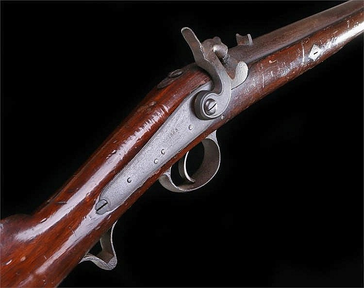 19th century smooth bore volunteer carbine with all steel fittings and sadd