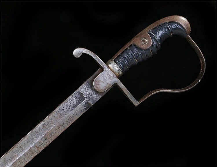 Early 20th Century German Artillery Officer's sword, fullered blade, flat b