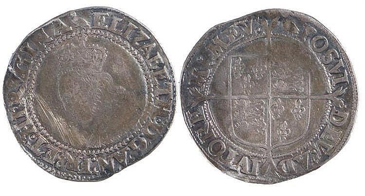 Elizabeth I Shilling, (1558-1603) without rose, 2nd issue - Stock Ref:5239-