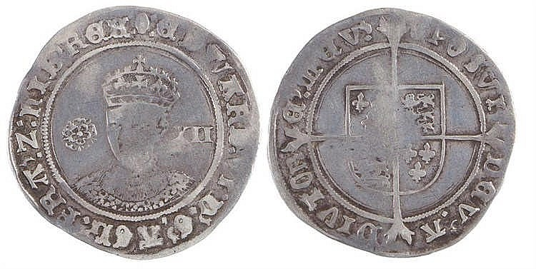 Edward VI Shilling (1547-1553) rose I, value XII - Stock Ref:2315-77