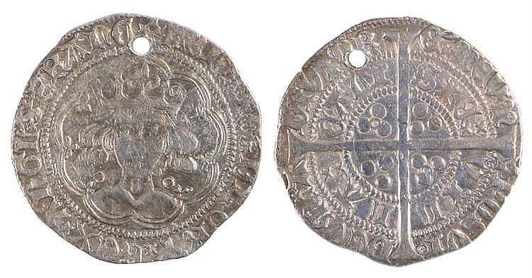 Henry VI Groat, Calais, hole punched - Stock Ref:3145-22