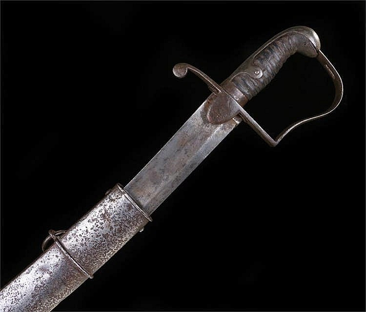 1796 pattern Light Cavalry Troopers sword with unmarked blade as issued to
