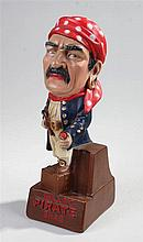 Will's Pirate Shag advertising figure, with a red bandana and a pipe in one