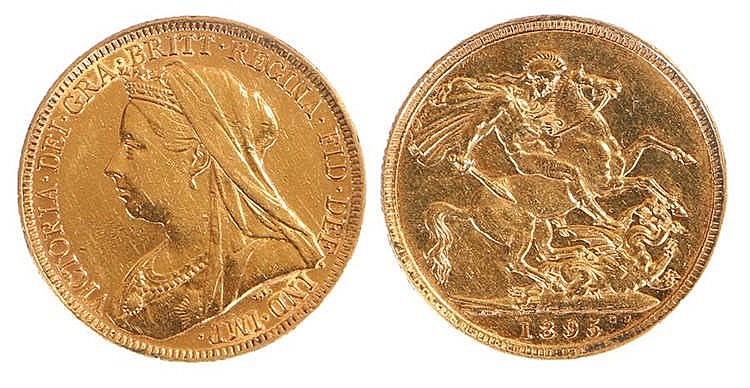 Victoria Sovereign, 1895, St George and the Dragon - Stock Ref:3834-11