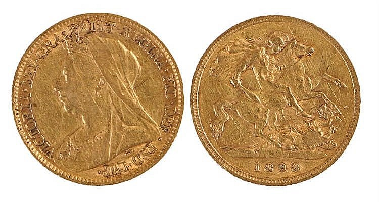 Victoria Half Sovereign, 1898, St George and the Dragon - Stock Ref:3550-1
