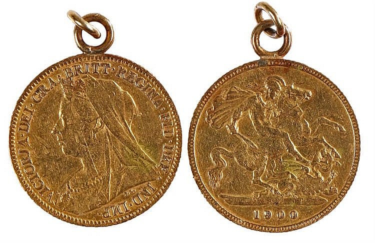 Victoria Half Sovereign, 1900, St George and the Dragon - Stock Ref:4756-12