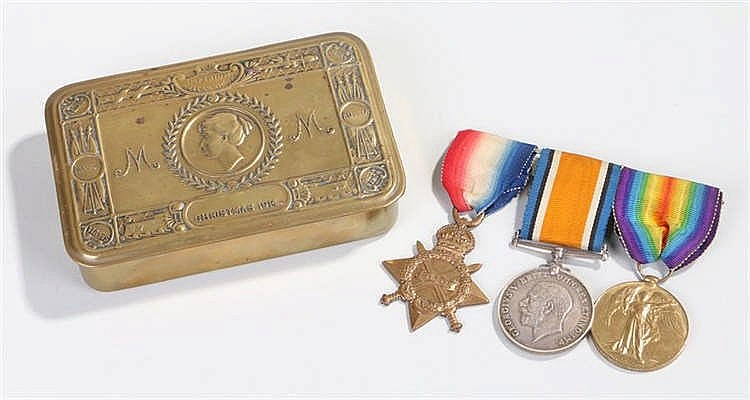 First World War trio, to include 1914-15 Star, War and Victory medal, (1644