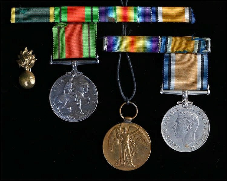 World War One War Medal and Victory Medal awarded to 43190 PTE W. Everett N
