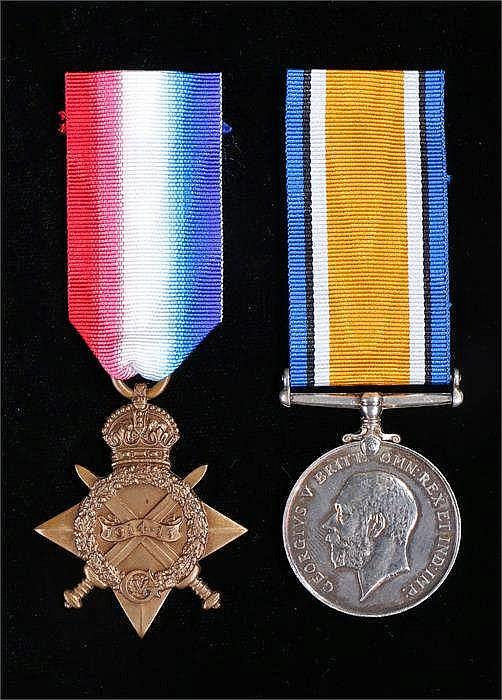 World War One 1914/1915 star & British War Medal to Engineman 1378 ES Willi