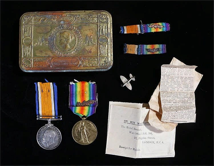 World War One pair, to include Victory medal with Oak Leaf, War medal, (2.