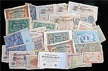 Banknotes, to include a collection of German Reichsbank notes, German state