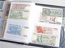 Collection of banknotes, World notes to include Peru, Uruguay, Brazil, Ecua