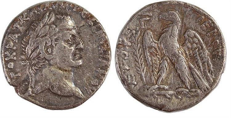 Vespasian Tetradrachm, AD 70/71, Antioch provincial mint, Obverse, Laureate