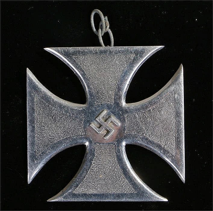 German World War Two iron cross from car mascot with swastika to centre - S