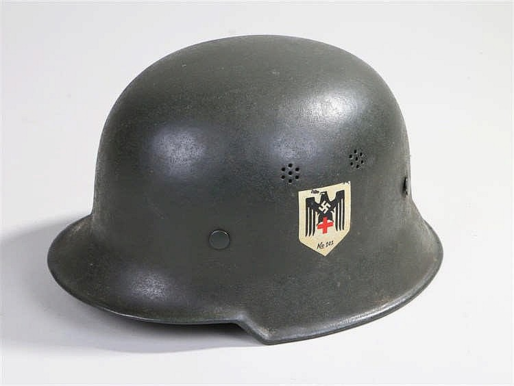 German World War Two home front social welfare medics helmet complete with