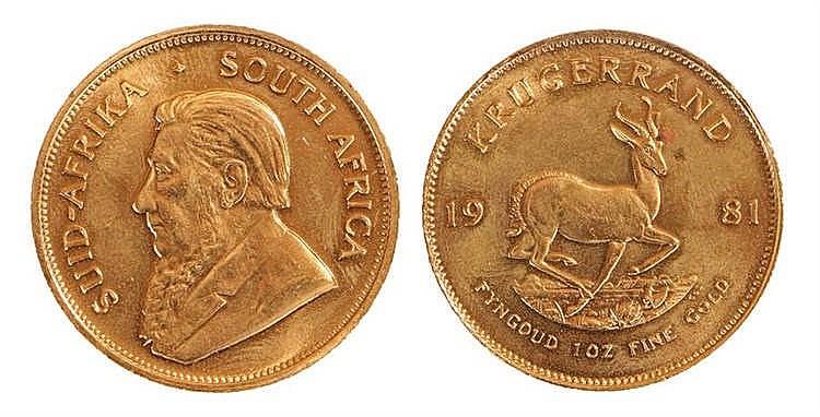 South Africa Krugerrand, 1981, 1oz fine gold - Stock Ref:2315-31