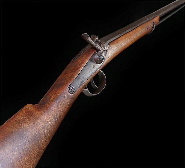 19th Century percussion rifle with ram rod - Stock Ref:5219-3