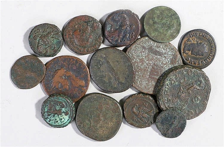 Ancient coins, to include Roman Anton Pius, Julia Mamara, Probus, Ptolemaic