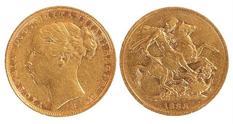 Victoria Sovereign, 1886, St George and the Dragon - Stock Ref:2315-36