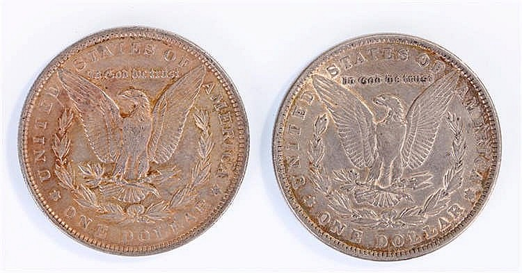 USA One Dollars, 1891 and 1890, (2) - Stock Ref:4758-6