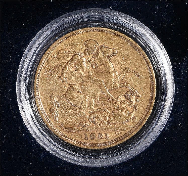 Victoria Sovereign 1881, St George and the Dragon - Stock Ref:2317-20