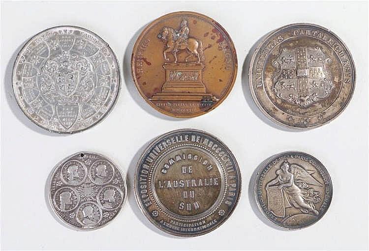 Medallions, to include Henrico Magno, Napoleon III x 2, Papal, Company meda