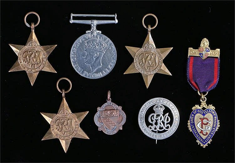 Medals, to include Second World War medals, an Odd Fellows medal, Norfolk m