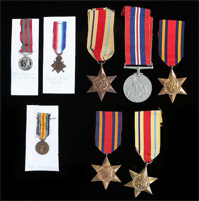 Eight medals to include two Burma stars, two Africa stars,1939-45 Victory m