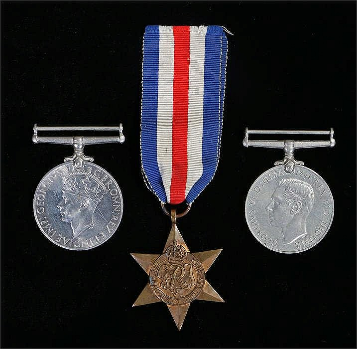 World War Two group of three medals to include War medal, Defence medal and