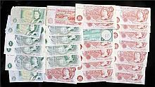 Banknotes, to include £1 O'Brien, Fforde, etc, also together with 10 Shilli