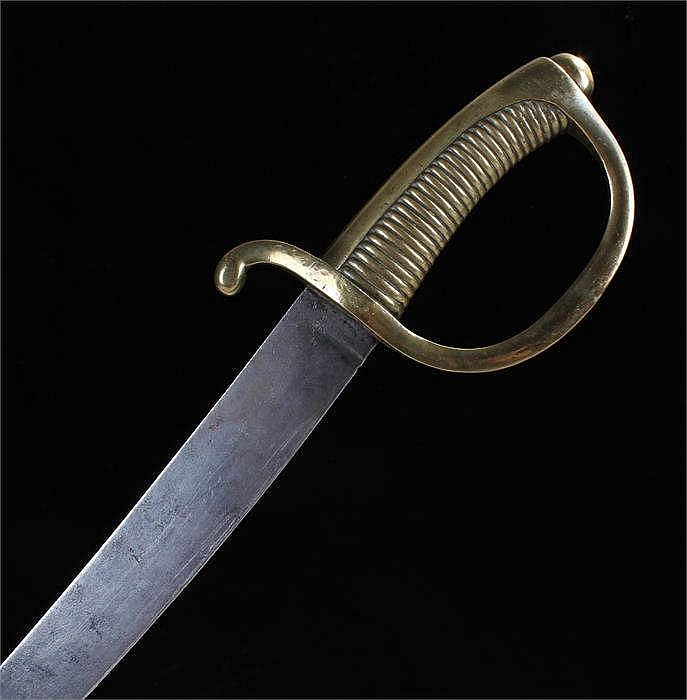 French Infantryman's hangar 1800-1801 with brass grooved grip, and 146 stam