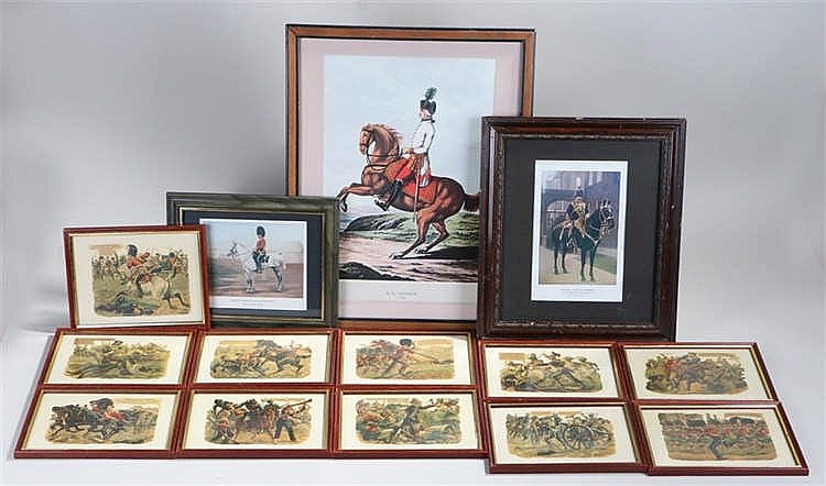 Eleven Harry Payne prints of Victoria Cross Gallery 22cm x 17cm including f