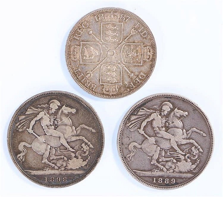 Victoria, to include two Crown, 1889 and 1898, also together with a Double